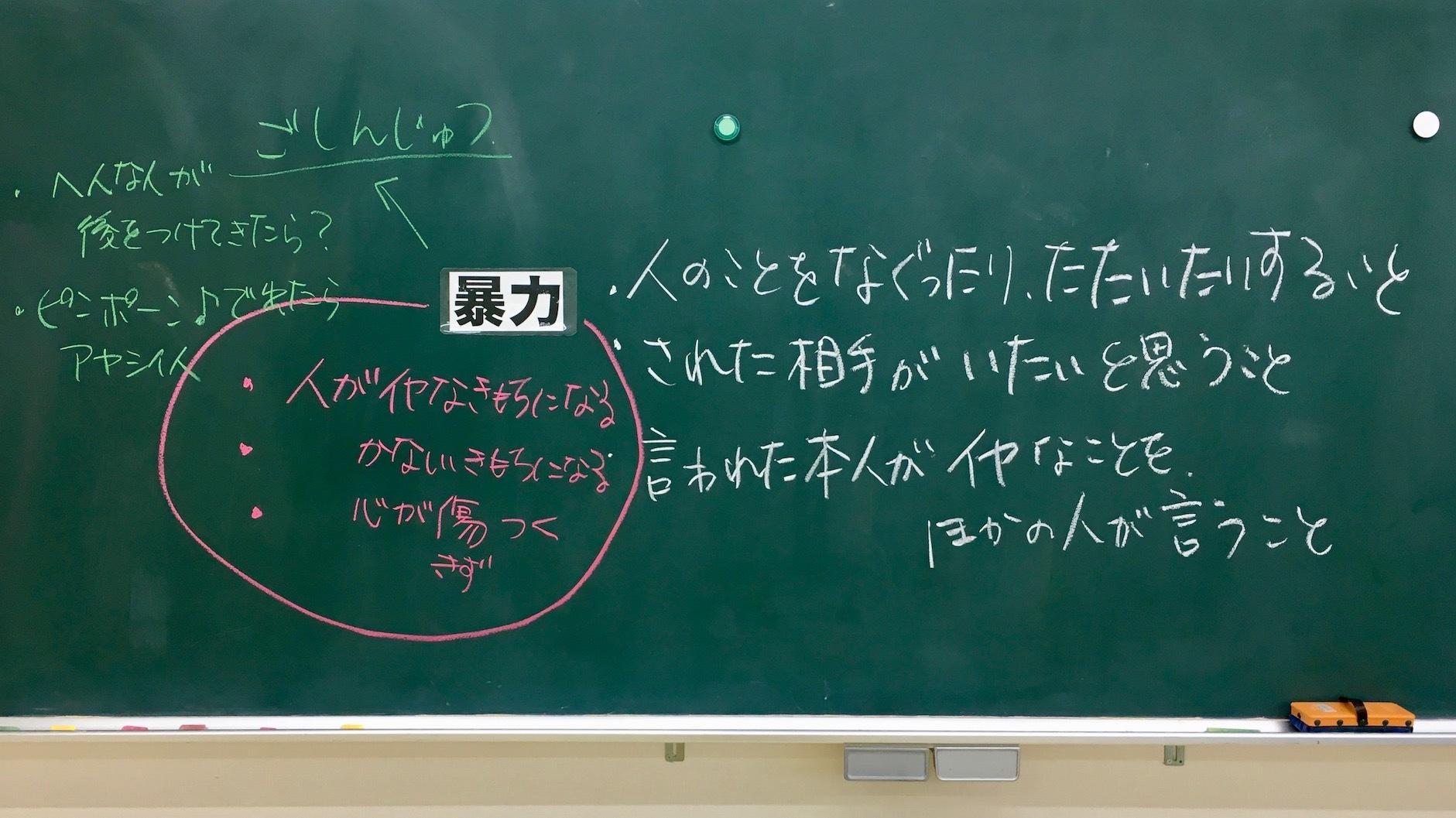 主体的・対話的なセルフディフェンス:小学生との護身授業「暴力をなくすために大事なことを考える」_e0024978_18201774.jpeg