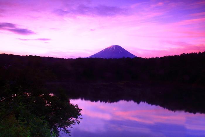 令和元年6月の富士(17)精進湖の日の出の富士_e0344396_14100383.jpg