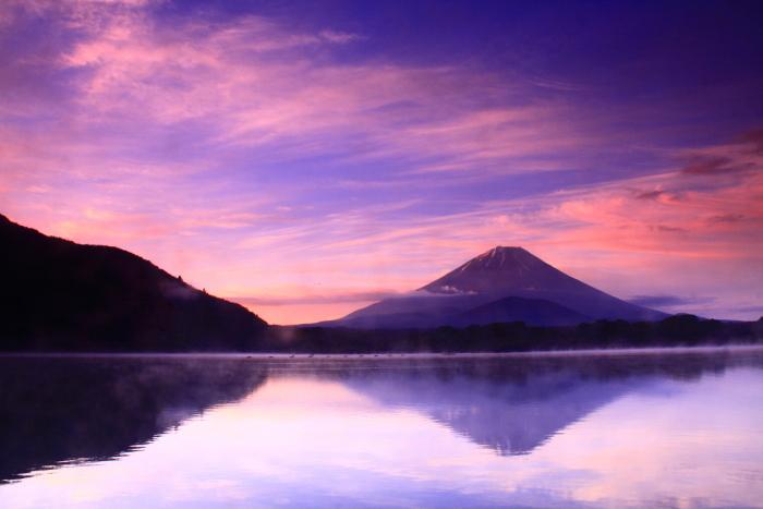 令和元年6月の富士(18)精進湖他手合浜の朝焼けの富士_e0344396_17331816.jpg