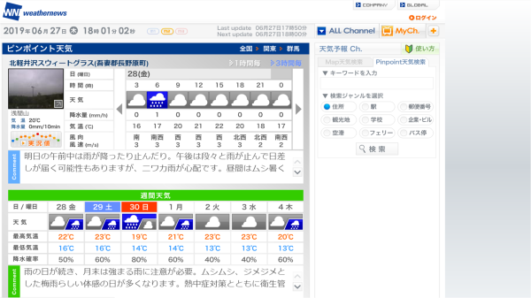 今週末の天気と気温(2019年6月27日)_b0174425_18130332.png