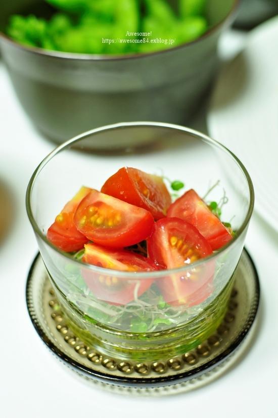 3日目カレーのグリル野菜添えと7年物の梅黒酢サワー_e0359481_23530247.jpg