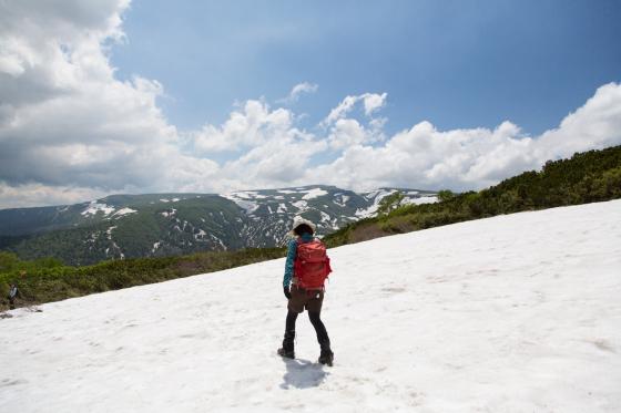 雪渓残る緑岳へ!_d0198793_12104959.jpg