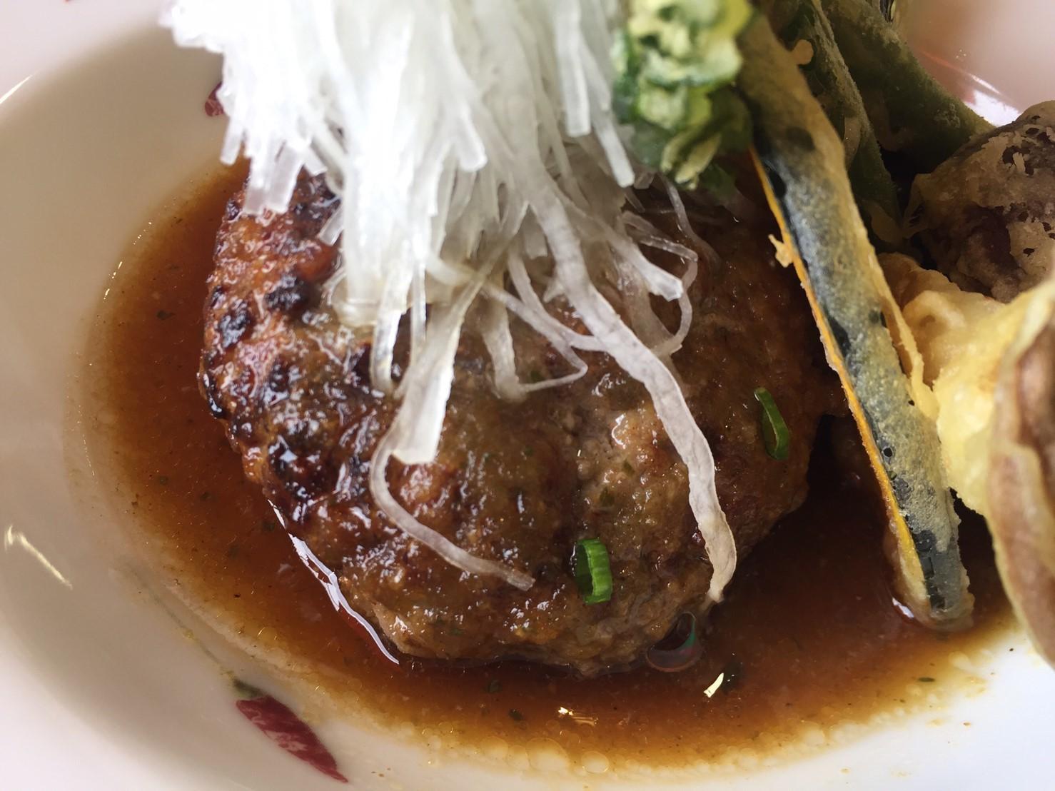 cafe & restaurant アンドリュース 日替わりランチ  ラス1和風ハンバーグ_e0115904_19422977.jpg