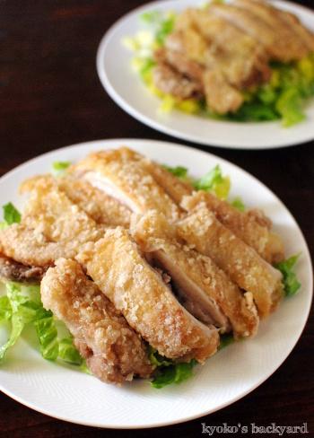 油淋鶏を、コリアンダー&青ネギ入り甘酢タレで_b0253205_02402499.jpg
