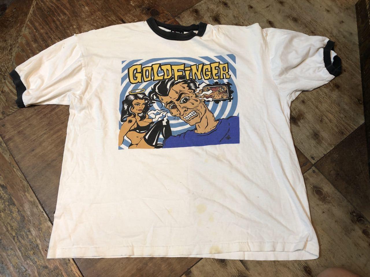 6月29日(土)入荷!90s MADE IN U.S.A GOLDFINGER ゴールドフィンガー Tシャツ!_c0144020_13405487.jpg