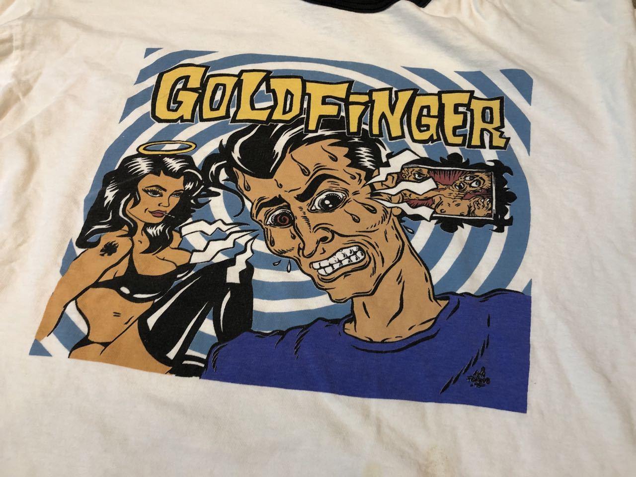 6月29日(土)入荷!90s MADE IN U.S.A GOLDFINGER ゴールドフィンガー Tシャツ!_c0144020_13405634.jpg