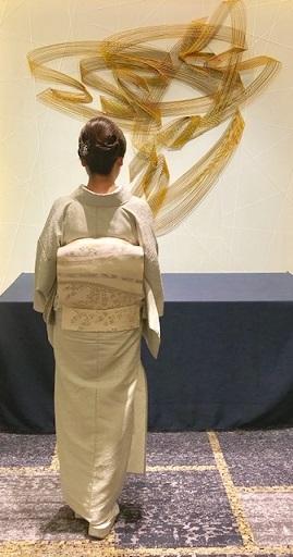 ファッションカンタータParty・単衣御召色無地まいづる夏帯_f0181251_18233494.jpg