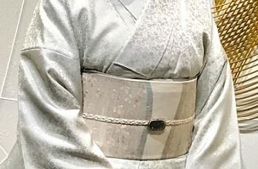 ファッションカンタータParty・単衣御召色無地まいづる夏帯_f0181251_18312015.jpg