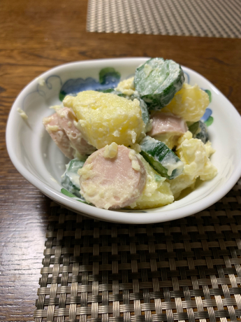 収穫したジャガイモ料理🎶_a0077071_11493454.jpg