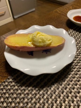 収穫したジャガイモ料理🎶_a0077071_11495725.jpg