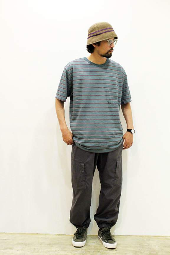 "COMFORTABLE REASON (コンフォータブルリーズン) "" Pique Border S/S Pocket Tee \""_b0122806_14515298.jpg"
