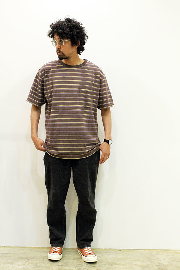 "COMFORTABLE REASON (コンフォータブルリーズン) "" Pique Border S/S Pocket Tee \""_b0122806_14521947.jpg"