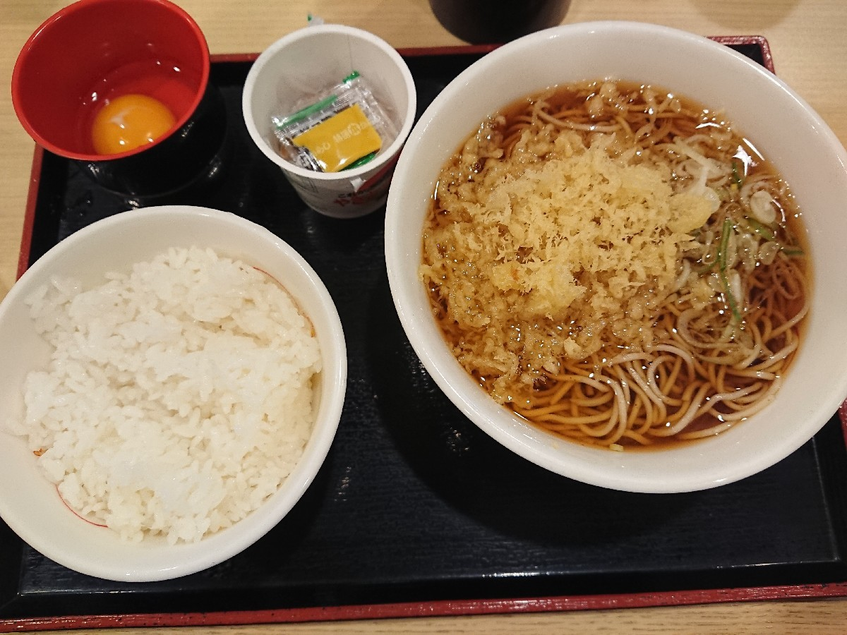 6/29  朝食セット (納豆) ¥420 @ 生蕎麦いろり庵きらく_b0042308_13594318.jpg