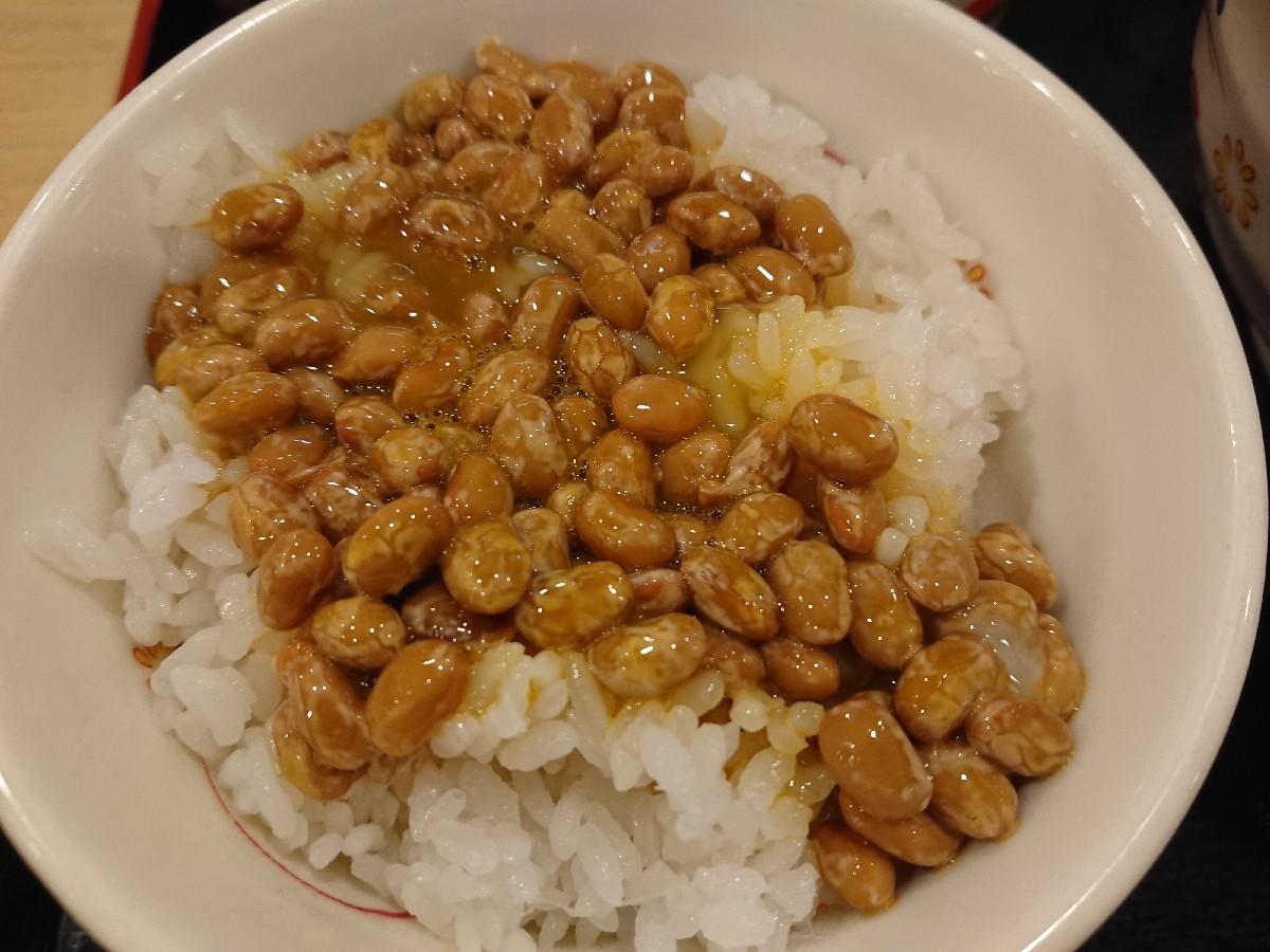 6/29  朝食セット (納豆) ¥420 @ 生蕎麦いろり庵きらく_b0042308_13594438.jpg
