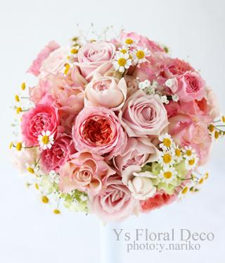 桜ピンクのドレスにあわせるブーケ&ヘッドドレス_b0113510_13404337.jpg