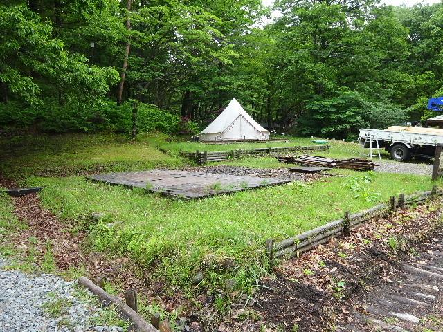 田沢湖キャンプ場 ウッドデッキ更新作業に出動!_f0105112_05043662.jpg