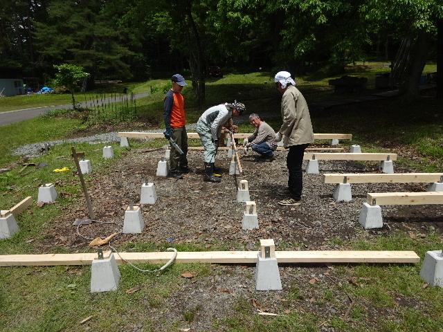 田沢湖キャンプ場 ウッドデッキ更新作業に出動!_f0105112_05113802.jpg