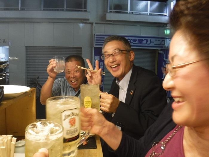 ◆送別はしご酒 ~宮古へ行く人を天神橋で見送る♪~_f0238779_13060757.jpg