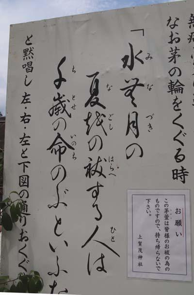 夏越の大祓い 茅の輪くぐり_e0048413_21074060.jpg