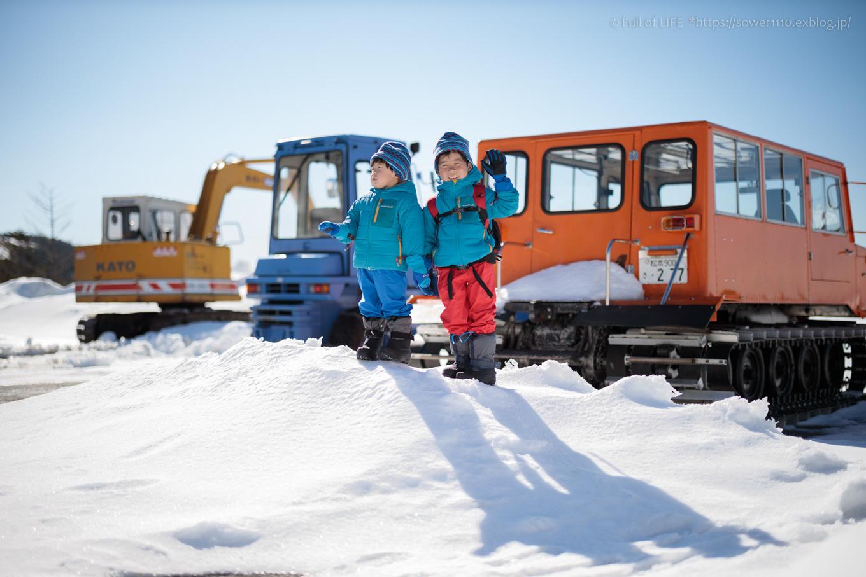 3歳5歳ちびっ子兄弟のスノーハイキング「美ヶ原高原」_c0369219_15575809.jpg