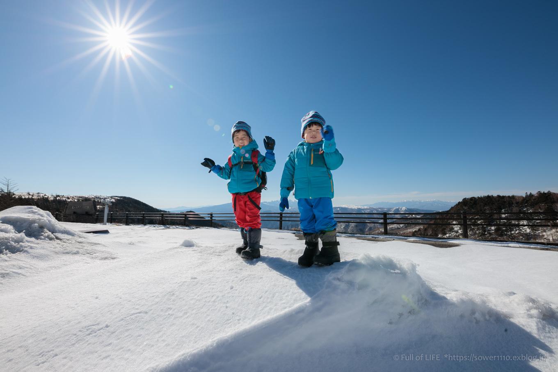 3歳5歳ちびっ子兄弟のスノーハイキング「美ヶ原高原」_c0369219_16000648.jpg