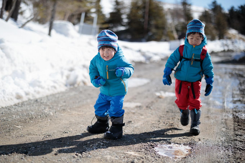 3歳5歳ちびっ子兄弟のスノーハイキング「美ヶ原高原」_c0369219_16194573.jpg