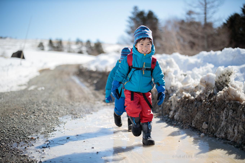 3歳5歳ちびっ子兄弟のスノーハイキング「美ヶ原高原」_c0369219_16212466.jpg