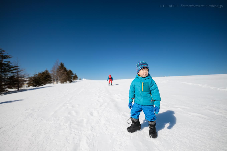 3歳5歳ちびっ子兄弟のスノーハイキング「美ヶ原高原」_c0369219_16505634.jpg