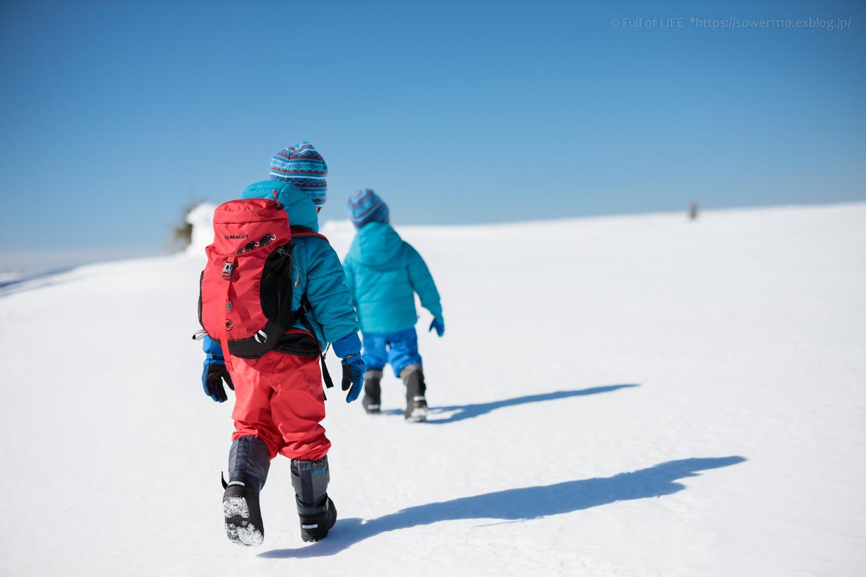 3歳5歳ちびっ子兄弟のスノーハイキング「美ヶ原高原」_c0369219_16522410.jpg