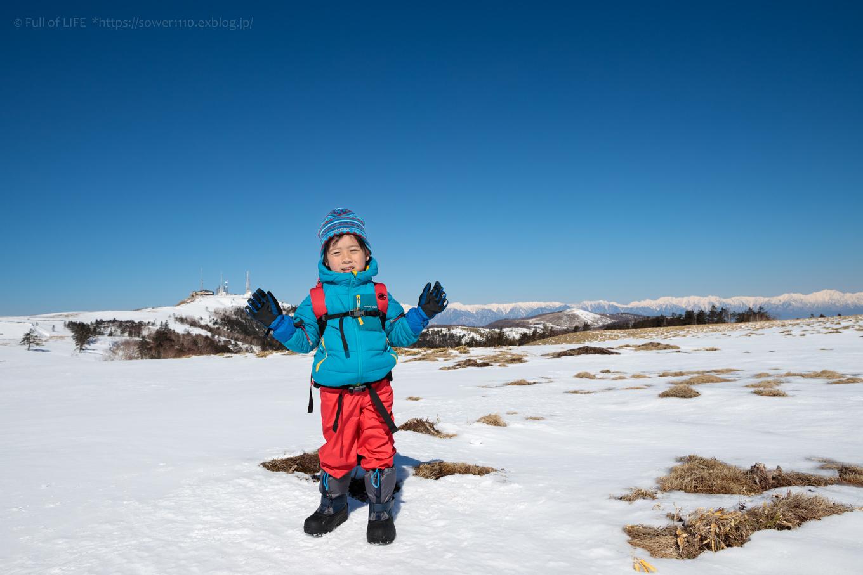 3歳5歳ちびっ子兄弟のスノーハイキング「美ヶ原高原」_c0369219_17072487.jpg