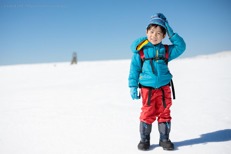 3歳5歳ちびっ子兄弟のスノーハイキング「美ヶ原高原」_c0369219_17140719.jpg