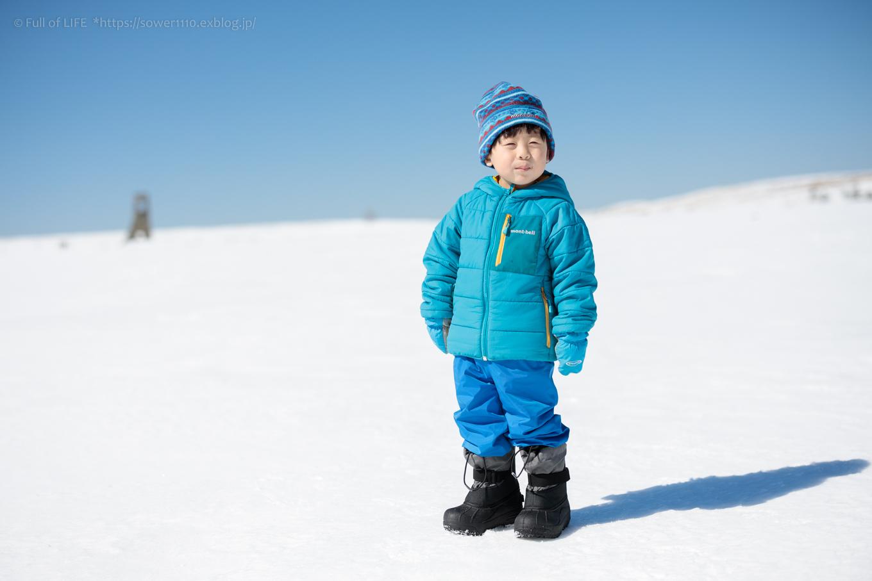 3歳5歳ちびっ子兄弟のスノーハイキング「美ヶ原高原」_c0369219_17161268.jpg