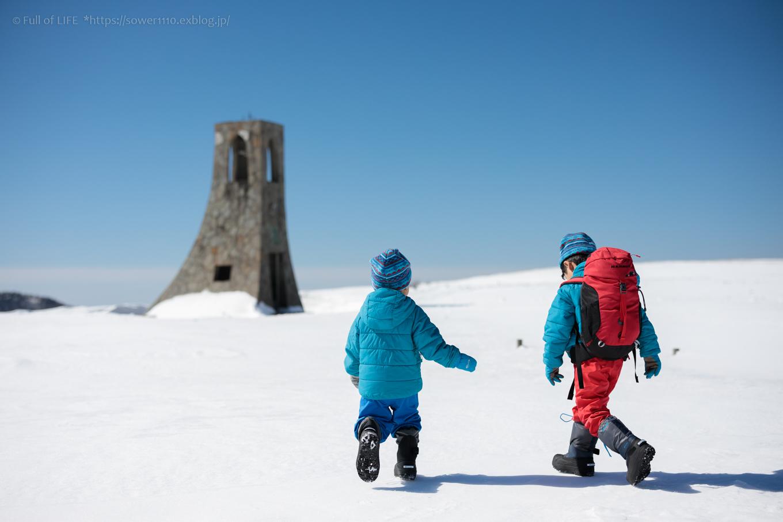 3歳5歳ちびっ子兄弟のスノーハイキング「美ヶ原高原」_c0369219_17231023.jpg