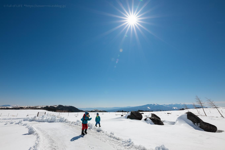 3歳5歳ちびっ子兄弟のスノーハイキング「美ヶ原高原」_c0369219_18264144.jpg