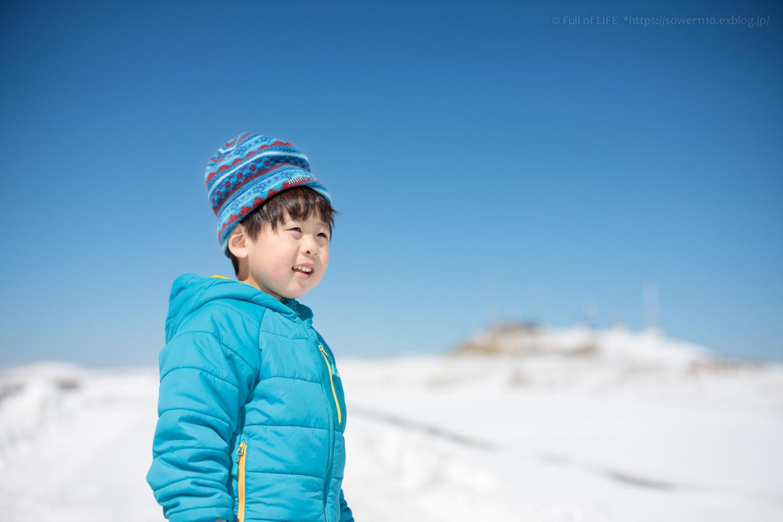 3歳5歳ちびっ子兄弟のスノーハイキング「美ヶ原高原」_c0369219_18330119.jpg