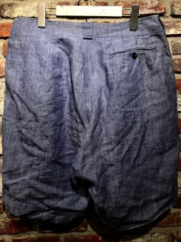 """1950s \"""" FR NAVAL \"""" ALL LINEN VINTAGE - NEP SHORTS - \"""" ONE WASH \"""" ._d0172088_18335890.jpg"""