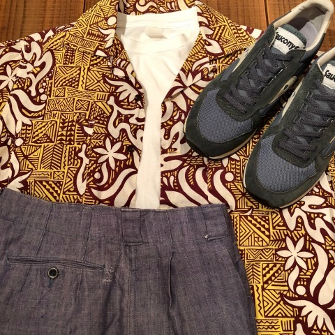 """1950s \"""" FR NAVAL \"""" ALL LINEN VINTAGE - NEP SHORTS - \"""" ONE WASH \"""" ._d0172088_23523383.jpg"""