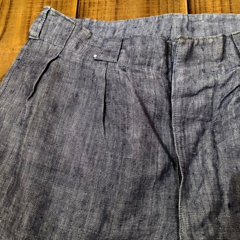 """1950s \"""" FR NAVAL \"""" ALL LINEN VINTAGE - NEP SHORTS - \"""" ONE WASH \"""" ._d0172088_23582491.jpg"""