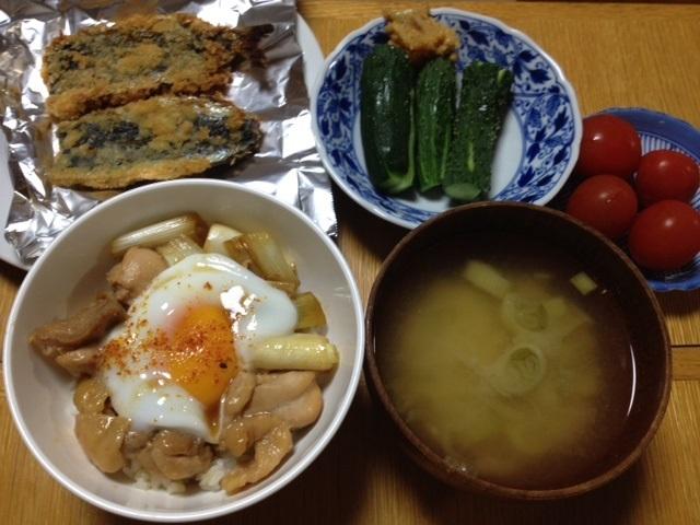 鶏照り焼き丼 with 温たま_e0097895_11211971.jpg