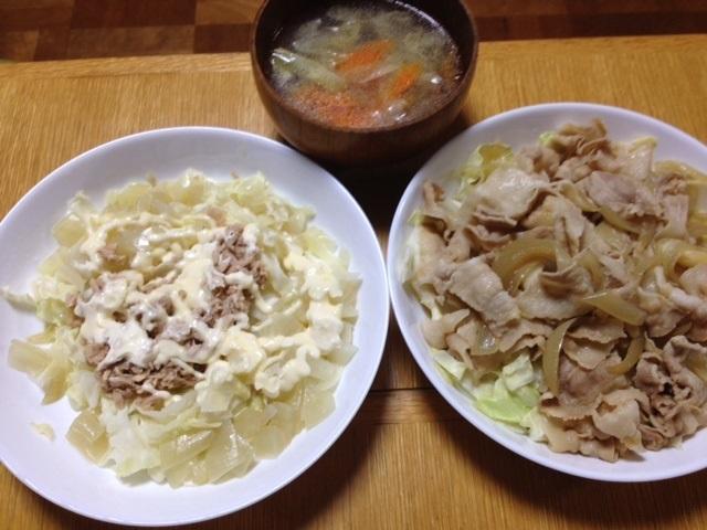 豚肉の生姜焼き on the キャベツ_e0097895_11272416.jpg