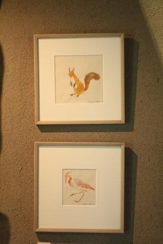 沙羅 木版画原画展 「森の中の扉」_a0260022_16094654.jpg