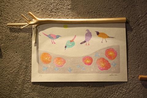 沙羅 木版画原画展 「森の中の扉」_a0260022_16385522.jpg