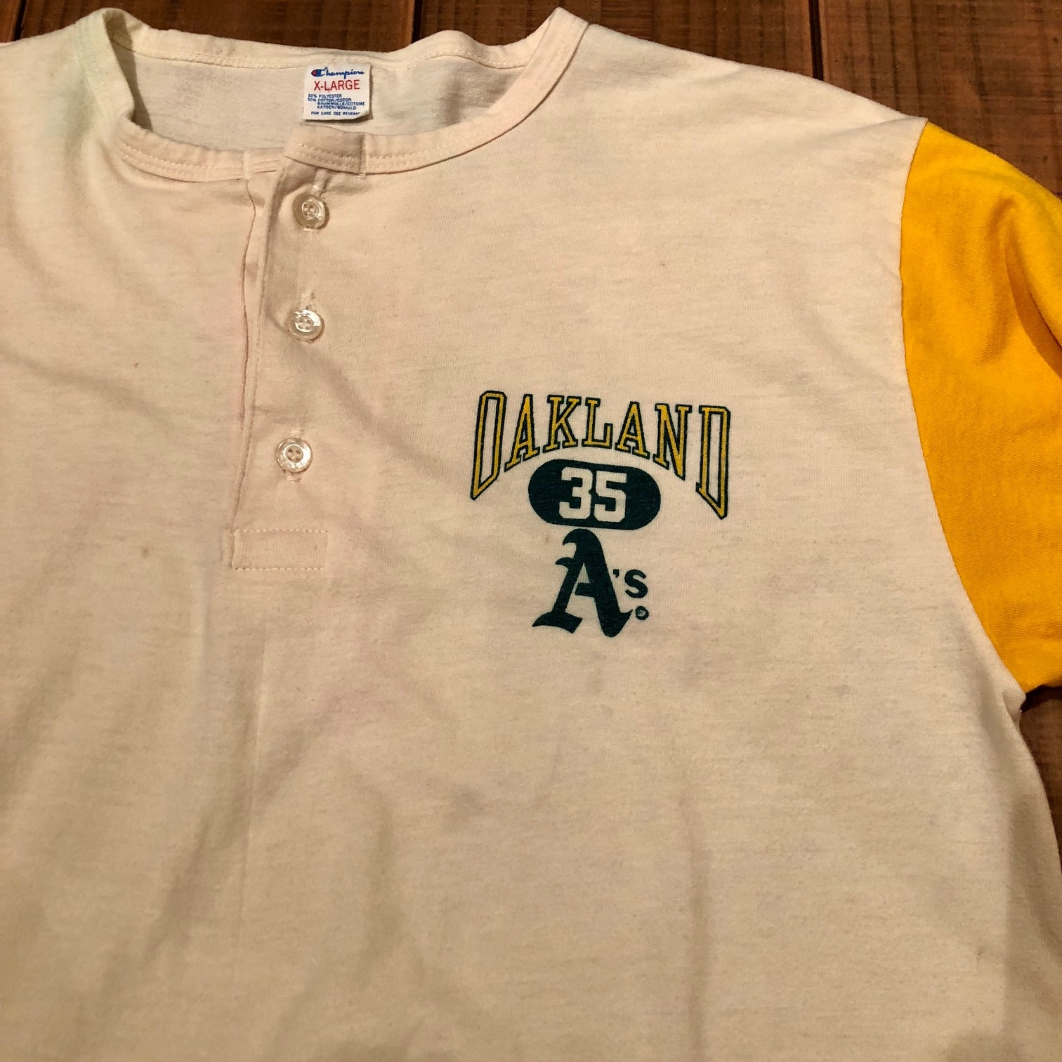 """1980s \"""" CHAMPION \"""" - trico tag - SET IN SLEEVE Vintage BASE BALL Tee SHIRTS ._d0172088_21333223.jpg"""