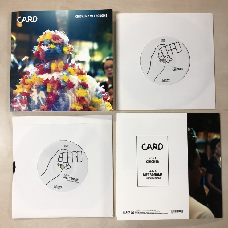 CARD / CHICKEN /  METRONOME feat. ninoheron / 7inch+DL(FLAKES-220)2019.7.17 Release_a0087389_18401440.jpg
