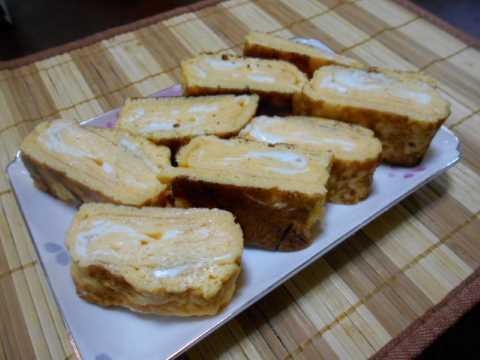 高野豆腐の肉詰め&卵焼き_f0019498_18000799.jpg