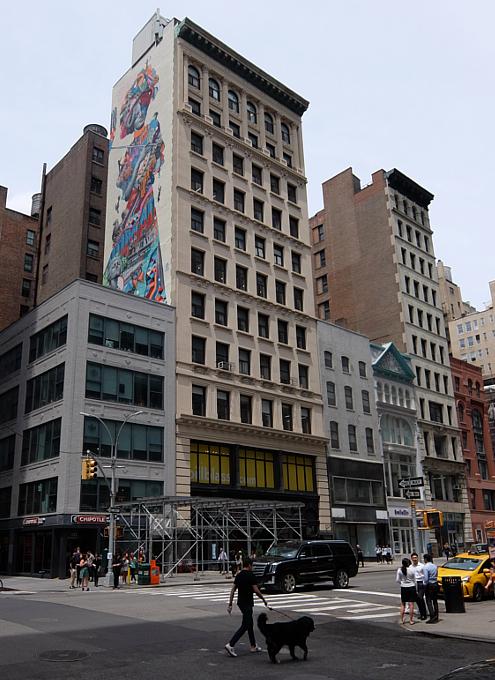 NYに世界初のスーパーモデル美少女、イヴリン・ネズビットさんの縦30メートルの超巨大壁画が登場_b0007805_20413123.jpg