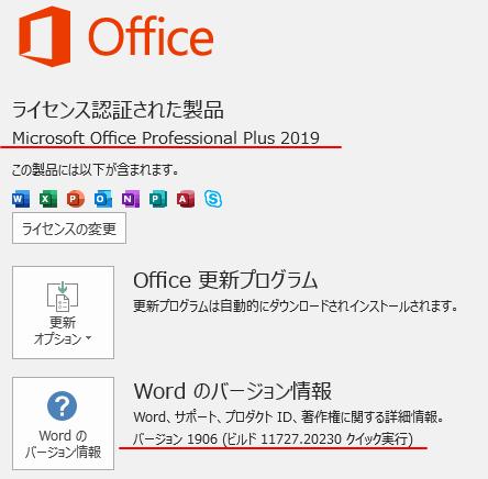 Office2016とOffice2019の一部のタブ名が変わった?!_a0030830_11020067.png