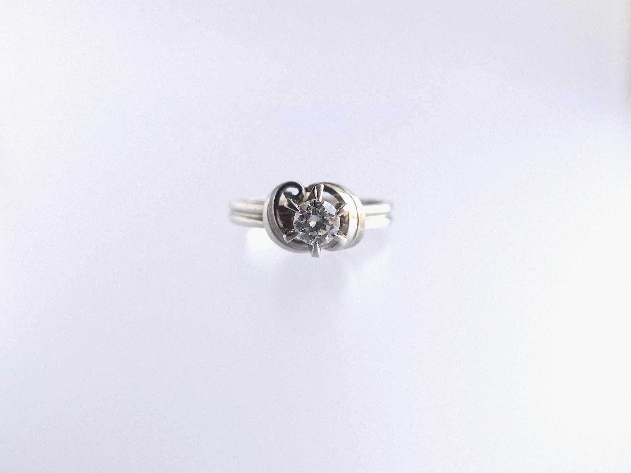 リメイク:ダイヤリング→ダイヤネックレスへ_c0243355_11432797.jpg