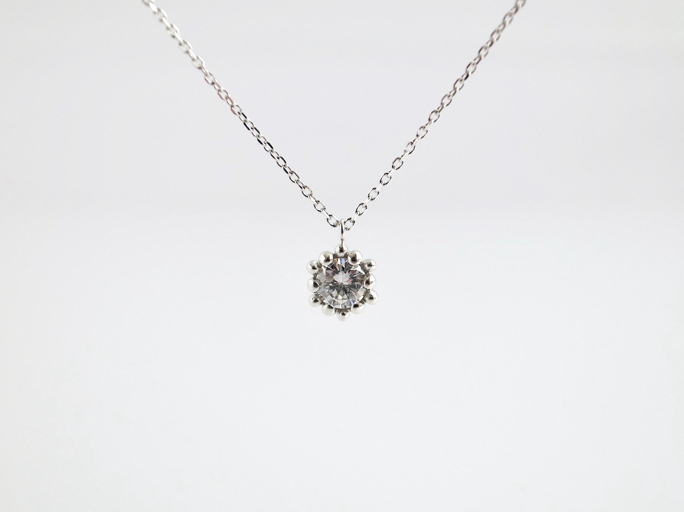 リメイク:ダイヤリング→ダイヤネックレスへ_c0243355_11461543.jpg