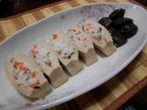 高野豆腐の肉詰め&卵焼き_f0019498_07134990.jpg